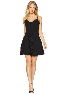 bebe Front Ruffle Down A-Line Dress