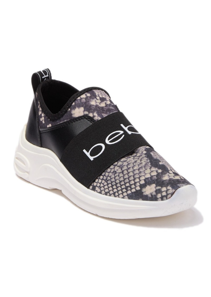 bebe Ladd Snakeskin Printed Stretch Sneaker