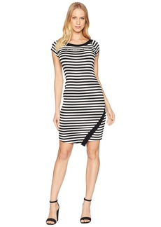 bebe Logo Bodycon w/ Asymmetrical Hem Dress