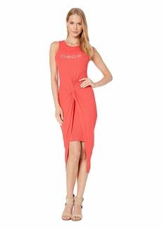 bebe Logo Twist Mini Dress