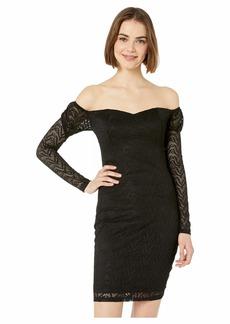 bebe Off Shoulder Lace Dress