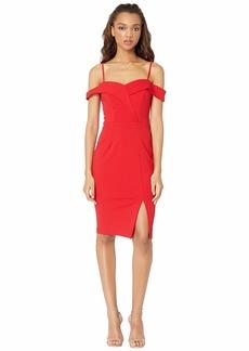 bebe Off the Shoulder Slit Dress