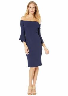 bebe Off the Shoulder w/ Flowy Sleeve Dress