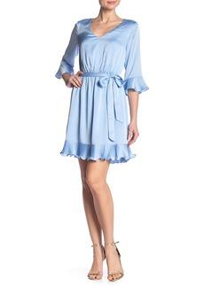 bebe Pleat Blouson Dress