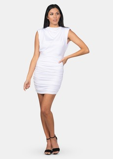 bebe Ruched Sleeveless Minidress - M - Also in: L, XS