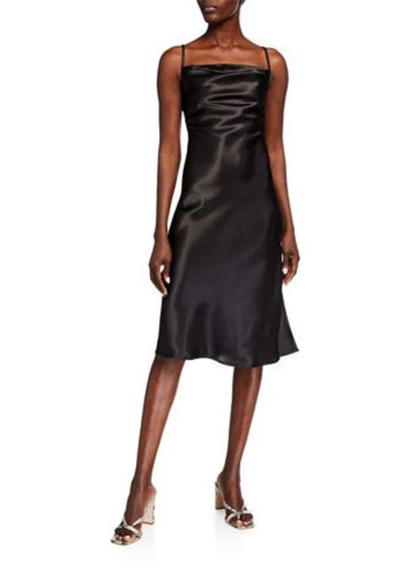 bebe Satin Slit Side Slip Dress