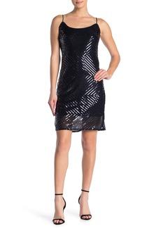 bebe Sequin Midi Slip Dress