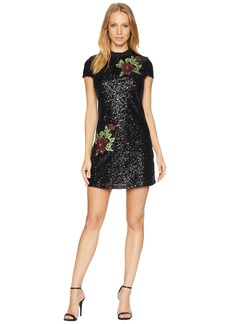 bebe Sequin Shift Dress