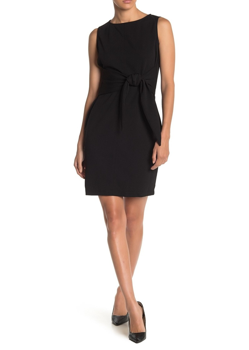bebe Sleeveless Front Tie Dress