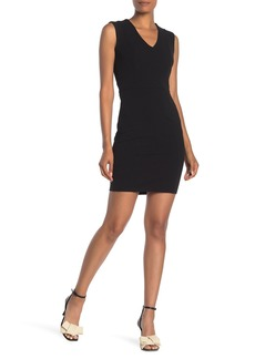 bebe Sleeveless V-Neck Bodycon Dress