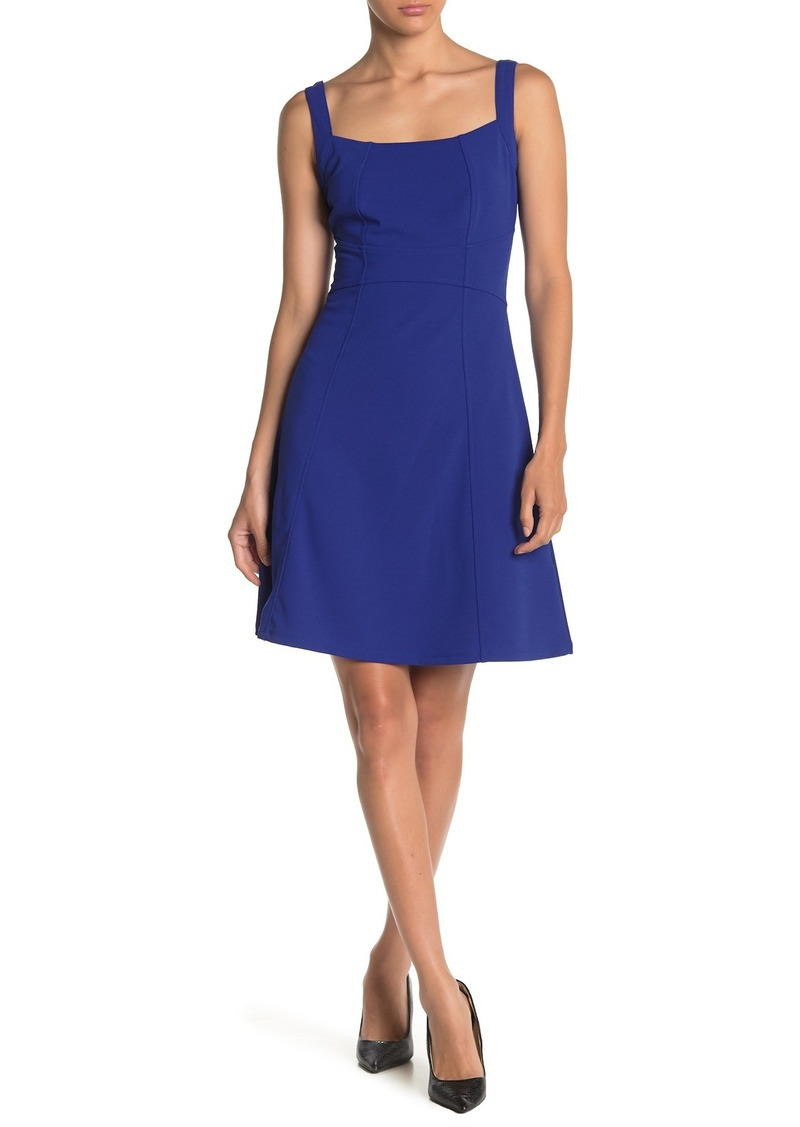 bebe Solid Fit and Flare Dress