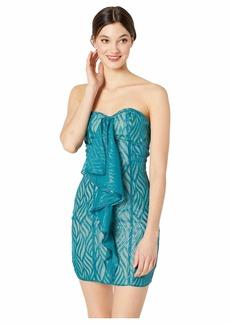 bebe Strapless Fishtail Dress