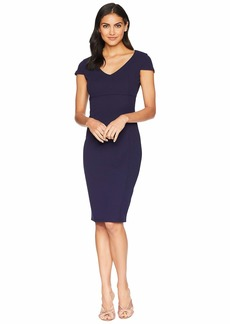 bebe V-Neck Cap Sleeve Fit Midi Dress