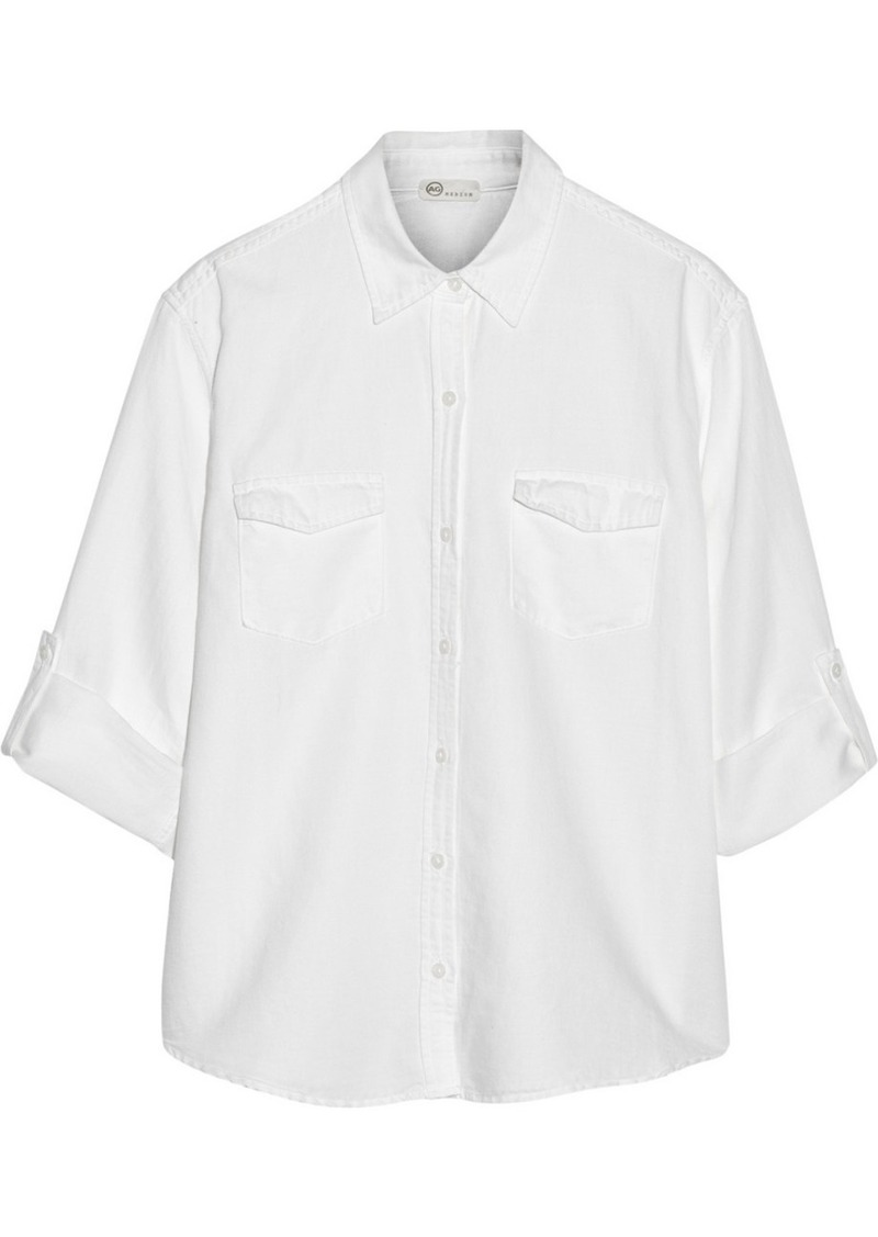 AG Adriano Goldschmied AG Jeans Samantha cotton-blend twill shirt