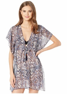 Becca Animal Kingdom Sheer Woven Tunic Cover-Up