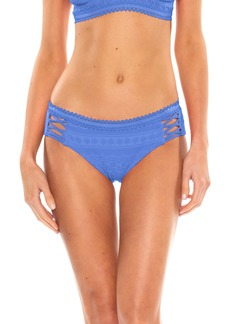 Becca Color Play Lace-Up Hipster Bikini Bottoms