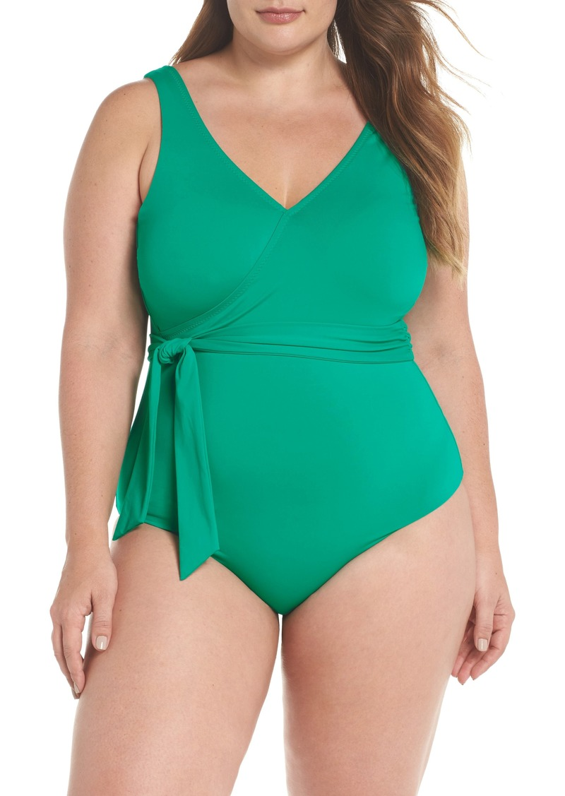 f24181978a1 Becca Becca Etc Color Splash One-Piece Swimsuit (Plus Size) | Swimwear