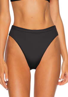 Becca Fine Line Ribbed High Leg Bikini Bottoms