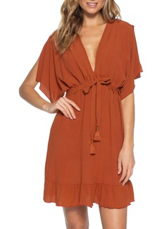 Becca Modern Muse Ruffle Hem Cover-Up Dress