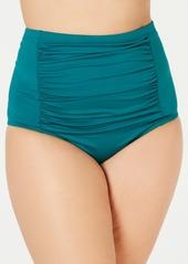 Becca Etc Plus Size Color Code High-Waist Swim Bottoms Women's Swimsuit