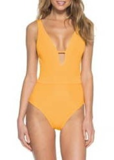 Becca Loreto Plunge One-Piece Swimsuit