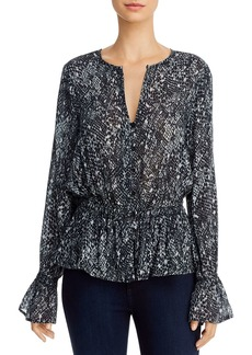 Bella Dahl Animal-Print Peplum Blouse - 100% Exclusive