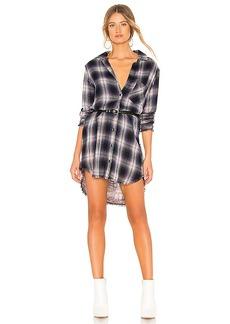 Bella Dahl Asher Plaid Fray Pocket Shirt Dress