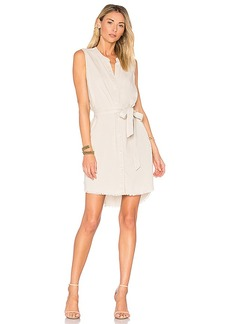 Bella Dahl Belted Shirt Dress in Light Gray. - size L (also in M,S,XS)