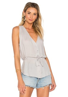 Bella Dahl Button Front Tank in Gray. - size L (also in S,M)
