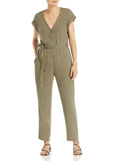 Bella Dahl Cap-Sleeve Button-Front Jumpsuit