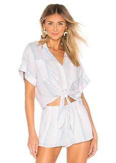Bella Dahl Cap Sleeve Tie Up Blouse