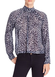 Bella Dahl Cheetah Print Button-Back Top