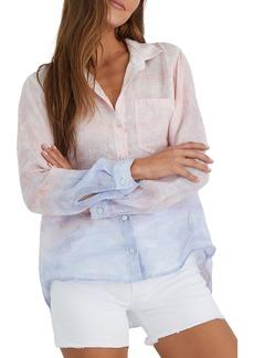 Bella Dahl Colorblock Linen Button-Up Shirt