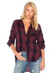 Bella Dahl Drop Shoulder Plaid Top in Red. - size XS (also in S,M)