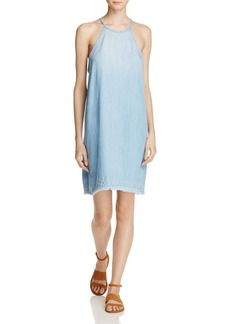 Bella Dahl Embroidered Swing Chambray Dress - 100% Exclusive
