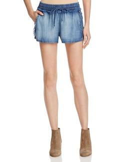 Bella Dahl Fray Side Chambray Shorts