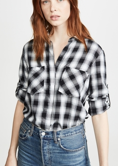Bella Dahl Frayed Hem Button Down