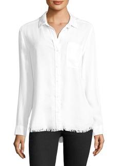 Bella Dahl Frayed Hem Button-Down Shirt
