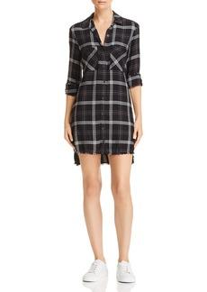 Bella Dahl Frayed Step-Hem Shirt Dress