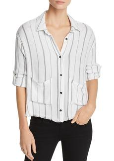 Bella Dahl Frayed Striped Shirt