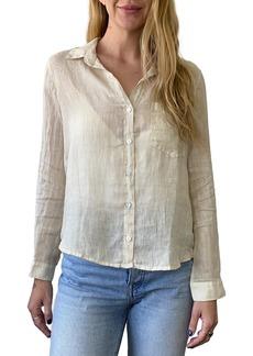 Bella Dahl Garment Dyed Linen Button-Up Shirt