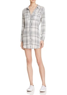 Bella Dahl Hipster Plaid Shirt Dress