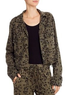Bella Dahl Leopard Print Cropped Military Jacket