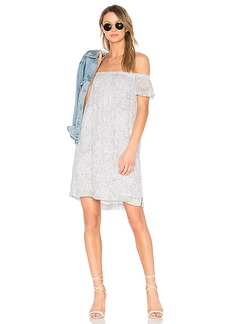 Bella Dahl Off Shoulder Dress in Gray. - size L (also in M,S,XS)