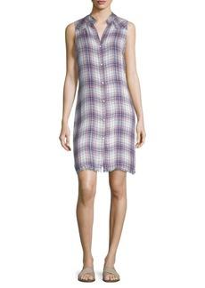 Bella Dahl Plaid Button-Front Dress