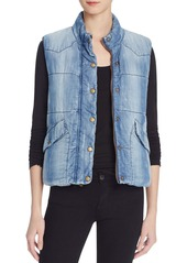 Bella Dahl Quilted Chambray Vest