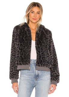 Bella Dahl Reversible Faux Fur Bomber Jacket