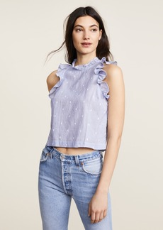 Bella Dahl Ruffle Sleeveless Blouse