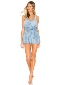 Bella Dahl Stripe Trim Racer Back Romper