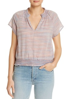 Bella Dahl Striped Raglan-Sleeve Blouse
